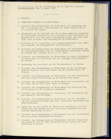 Notulen van de gemeenteraad van Leeuwarderadeel 1956-03-29