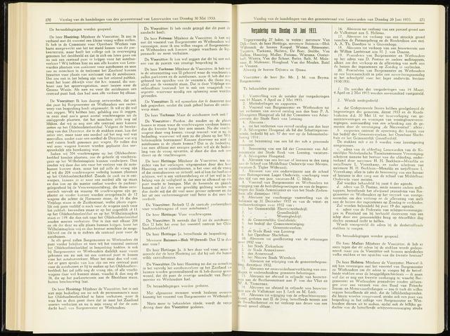 Raadsverslagen van de gemeente Leeuwarden, 1865-2007 (Notulen) 1933-06-20