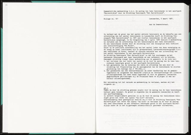 Raadsverslagen van de gemeente Leeuwarden, 1865-2007 (Bijlagen) 1987-01-01