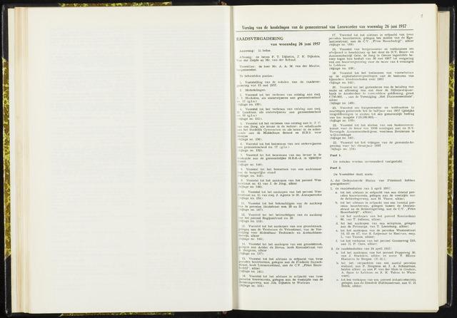 Raadsverslagen van de gemeente Leeuwarden, 1865-2007 (Notulen) 1957-06-26