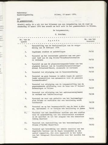 Notulen van de gemeenteraad van Leeuwarderadeel 1976-03-25