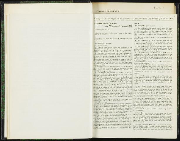 Raadsverslagen van de gemeente Leeuwarden, 1865-2007 (Notulen) 1952