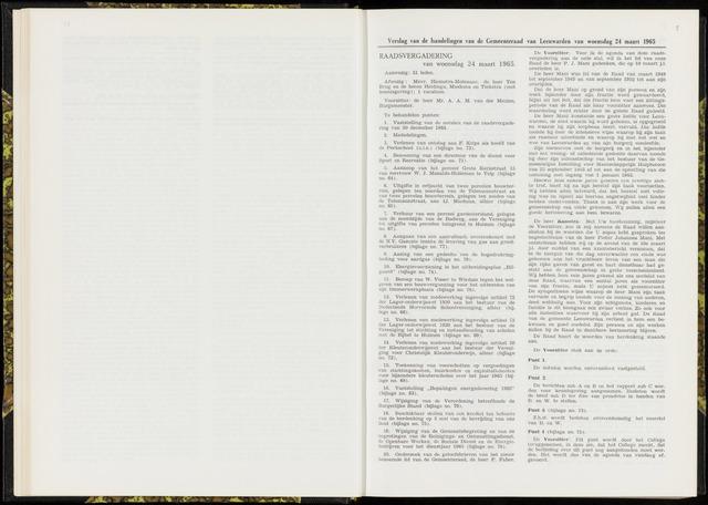 Raadsverslagen van de gemeente Leeuwarden, 1865-2007 (Notulen) 1965-03-24