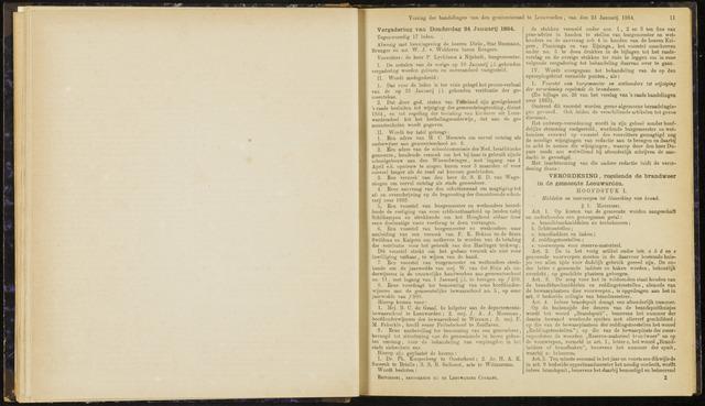 Raadsverslagen van de gemeente Leeuwarden, 1865-2007 (Notulen) 1884-01-24