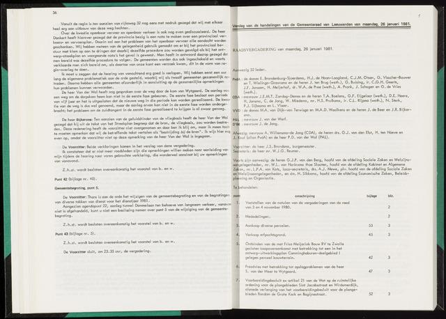 Raadsverslagen van de gemeente Leeuwarden, 1865-2007 (Notulen) 1981-01-26