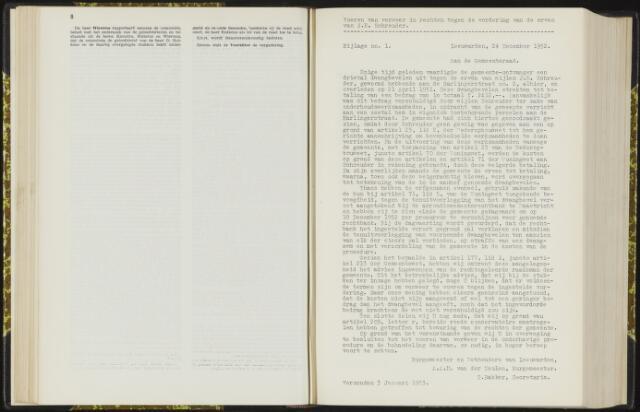 Raadsverslagen van de gemeente Leeuwarden, 1865-2007 (Bijlagen) 1953-01-01