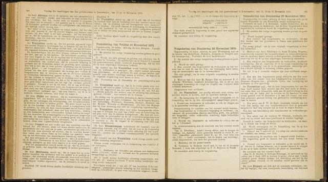 Raadsverslagen van de gemeente Leeuwarden, 1865-2007 (Notulen) 1873-11-14