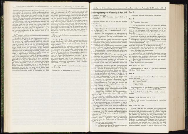 Raadsverslagen van de gemeente Leeuwarden, 1865-2007 (Notulen) 1951-11-21