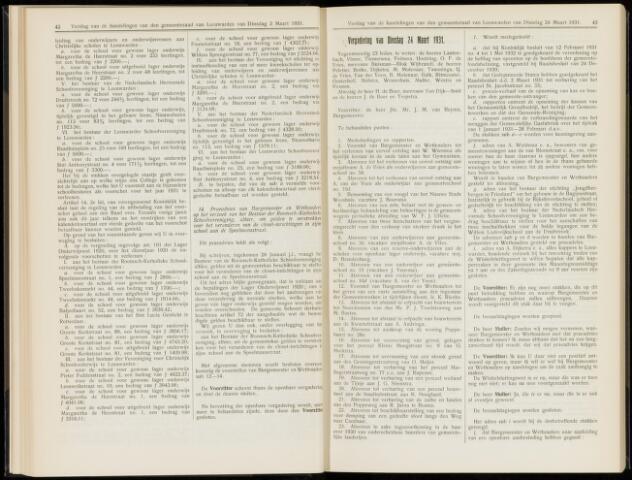 Raadsverslagen van de gemeente Leeuwarden, 1865-2007 (Notulen) 1931-03-24