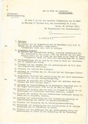 raadsverslagen Idaarderadeel 1935-1983 1952-10-27