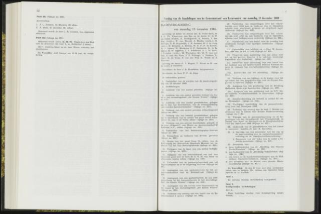 Raadsverslagen van de gemeente Leeuwarden, 1865-2007 (Notulen) 1969-12-15