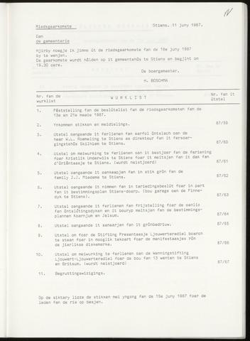 Notulen van de gemeenteraad van Leeuwarderadeel 1987-06-18