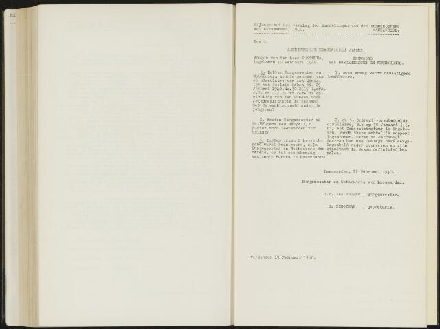 Raadsverslagen van de gemeente Leeuwarden, 1865-2007 (Schriftelijke vragen) 1940