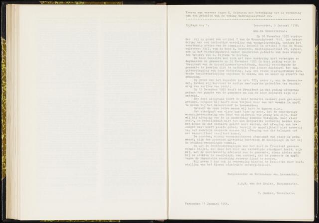 Raadsverslagen van de gemeente Leeuwarden, 1865-2007 (Bijlagen) 1956-01-01