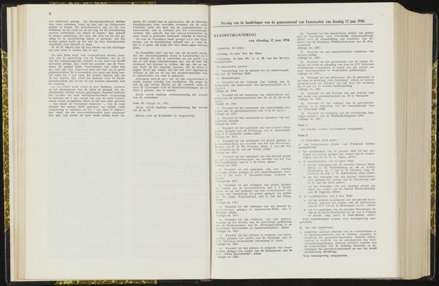 Raadsverslagen van de gemeente Leeuwarden, 1865-2007 (Notulen) 1956-06-12