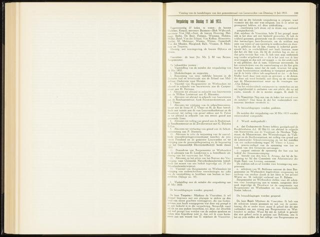 Raadsverslagen van de gemeente Leeuwarden, 1865-2007 (Notulen) 1933-07-11
