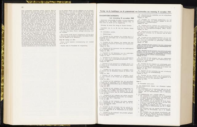 Raadsverslagen van de gemeente Leeuwarden, 1865-2007 (Notulen) 1960-11-16