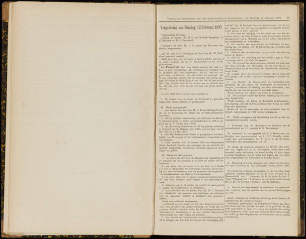 Raadsverslagen van de gemeente Leeuwarden, 1865-2007 (Notulen) 1895-02-12