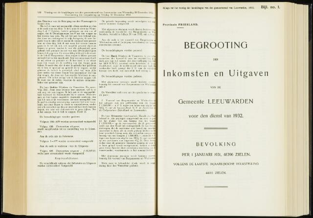 Raadsverslagen van de gemeente Leeuwarden, 1865-2007 (Bijlagen) 1932-01-01