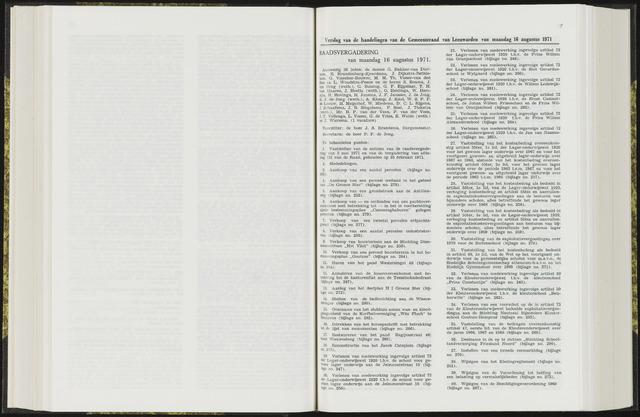 Raadsverslagen van de gemeente Leeuwarden, 1865-2007 (Notulen) 1971-08-16