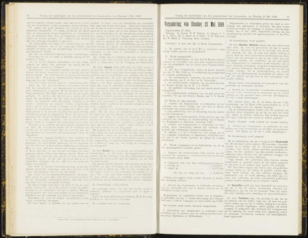 Raadsverslagen van de gemeente Leeuwarden, 1865-2007 (Notulen) 1899-05-23