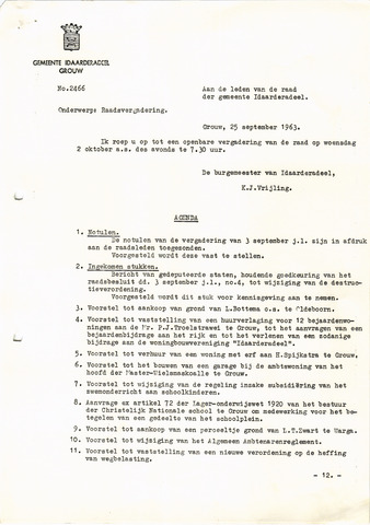 raadsverslagen Idaarderadeel 1935-1983 1963-10-02