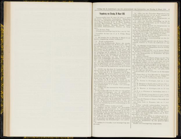 Raadsverslagen van de gemeente Leeuwarden, 1865-2007 (Notulen) 1916-03-28