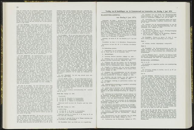 Raadsverslagen van de gemeente Leeuwarden, 1865-2007 (Notulen) 1974-06-04