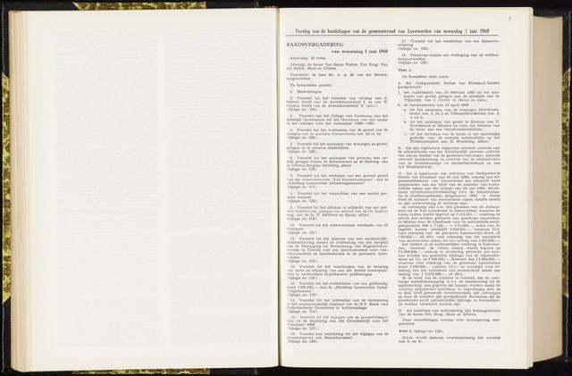 Raadsverslagen van de gemeente Leeuwarden, 1865-2007 (Notulen) 1960-06-01