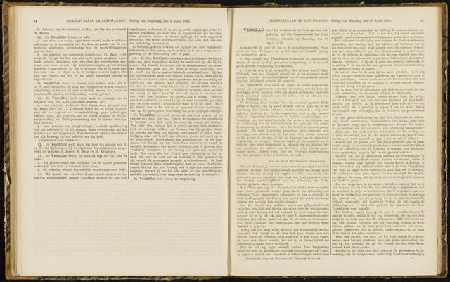 Raadsverslagen van de gemeente Leeuwarden, 1865-2007 (Notulen) 1868-04-20