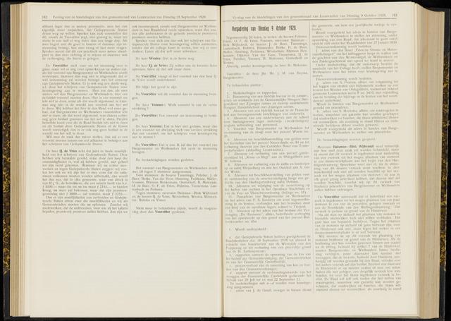 Raadsverslagen van de gemeente Leeuwarden, 1865-2007 (Notulen) 1928-10-09