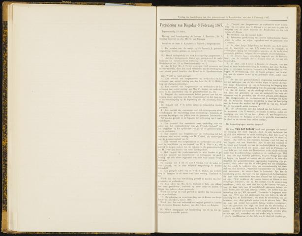 Raadsverslagen van de gemeente Leeuwarden, 1865-2007 (Notulen) 1887-02-08