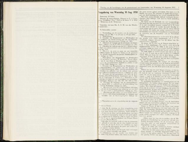 Raadsverslagen van de gemeente Leeuwarden, 1865-2007 (Notulen) 1950-08-30