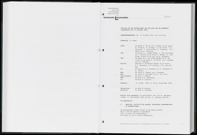 Raadsverslagen van de gemeente Leeuwarden, 1865-2007 (Notulen) 2005-10-31