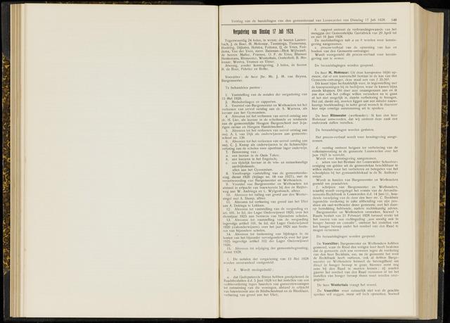 Raadsverslagen van de gemeente Leeuwarden, 1865-2007 (Notulen) 1928-07-17