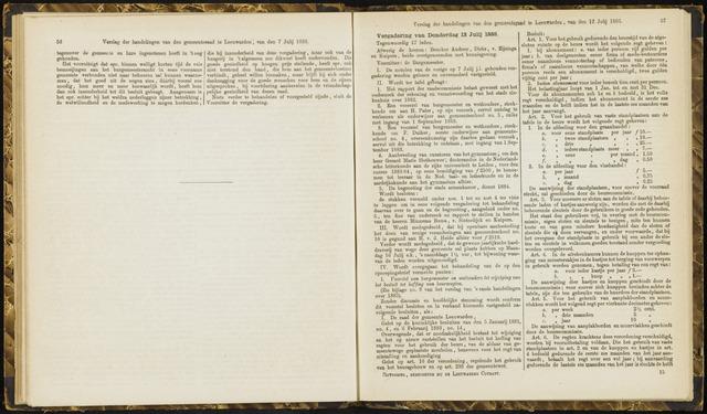 Raadsverslagen van de gemeente Leeuwarden, 1865-2007 (Notulen) 1883-07-12