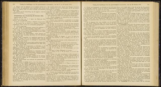 Raadsverslagen van de gemeente Leeuwarden, 1865-2007 (Notulen) 1884-10-23