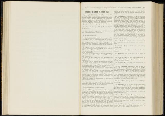 Raadsverslagen van de gemeente Leeuwarden, 1865-2007 (Notulen) 1926-10-12