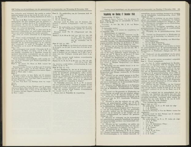 Raadsverslagen van de gemeente Leeuwarden, 1865-2007 (Notulen) 1940-12-17