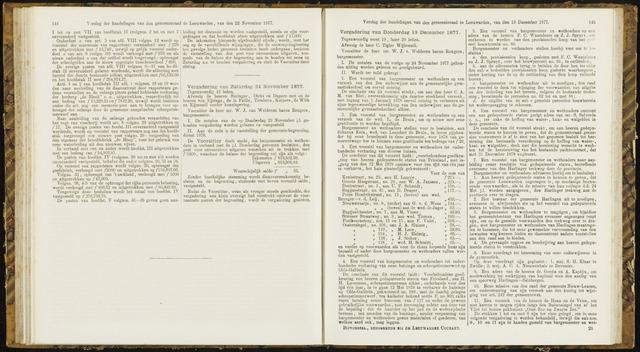 Raadsverslagen van de gemeente Leeuwarden, 1865-2007 (Notulen) 1877-11-24