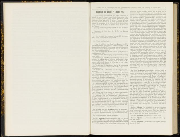 Raadsverslagen van de gemeente Leeuwarden, 1865-2007 (Notulen) 1924-01-29