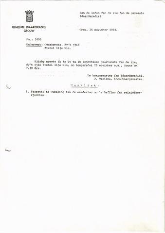 raadsverslagen Idaarderadeel 1935-1983 1974-11-28