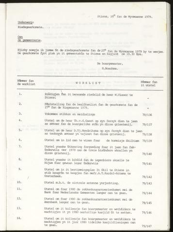 Notulen van de gemeenteraad van Leeuwarderadeel 1979-10-25