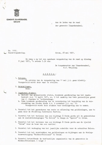 raadsverslagen Idaarderadeel 1935-1983 1971-06-08