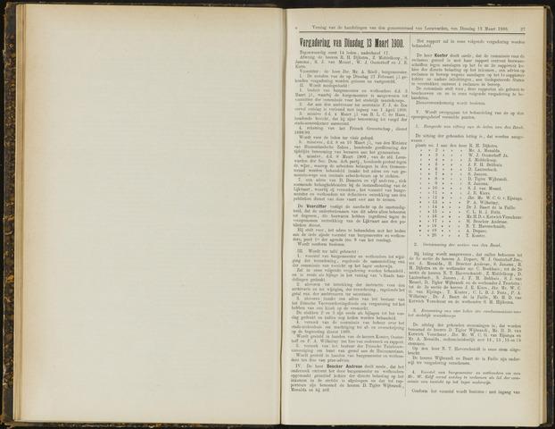 Raadsverslagen van de gemeente Leeuwarden, 1865-2007 (Notulen) 1900-03-13