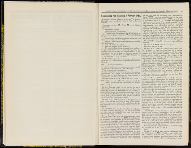 Raadsverslagen van de gemeente Leeuwarden, 1865-2007 (Notulen) 1947-02-03