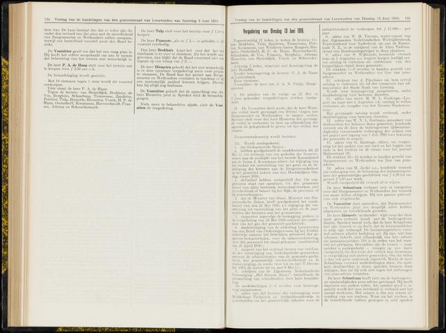 Raadsverslagen van de gemeente Leeuwarden, 1865-2007 (Notulen) 1916-06-13