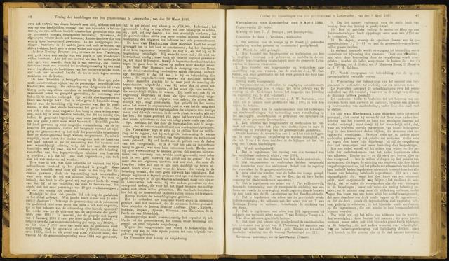 Raadsverslagen van de gemeente Leeuwarden, 1865-2007 (Notulen) 1885-04-09