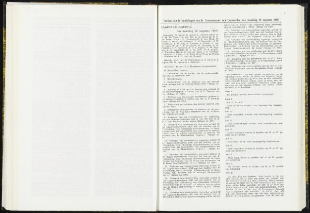 Raadsverslagen van de gemeente Leeuwarden, 1865-2007 (Notulen) 1968-08-12