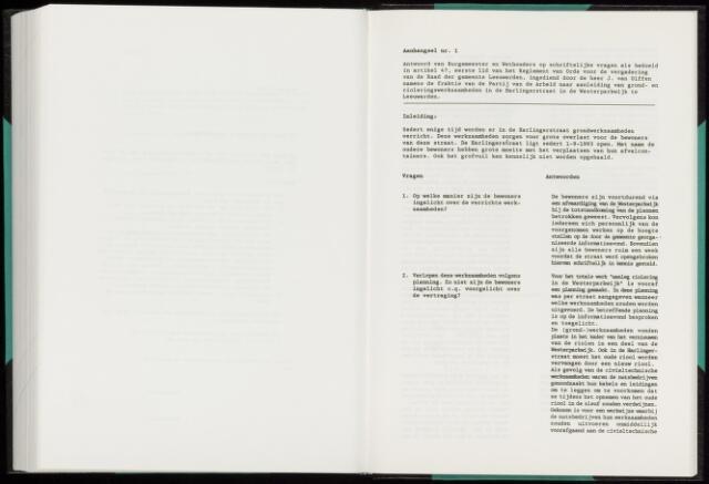 Raadsverslagen van de gemeente Leeuwarden, 1865-2007 (Schriftelijke vragen) 1994